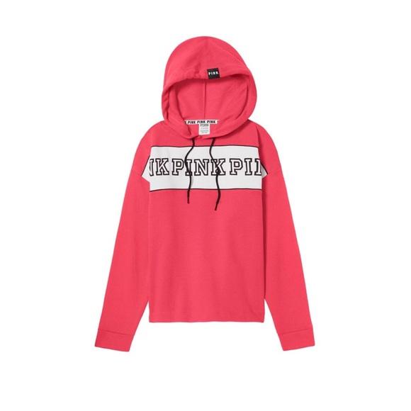d47b102594366 NWT Victoria's Secret PINK Fleece Top Hoodie NWT
